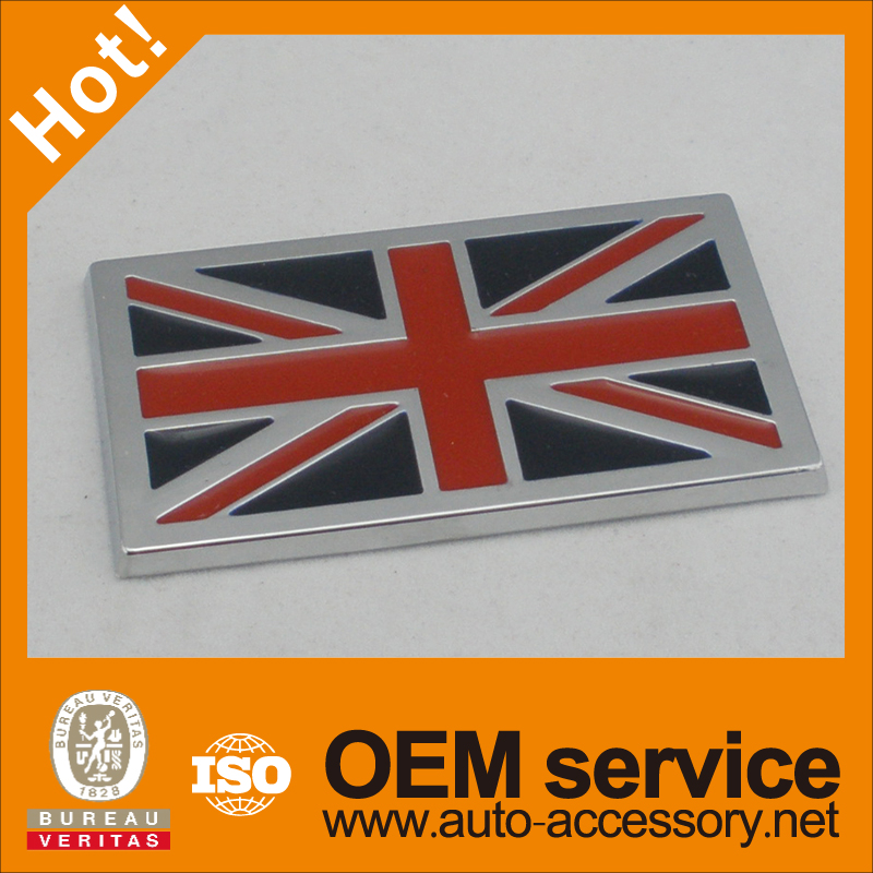 <b>ABS chrome UK JACK flag car stickers</b>