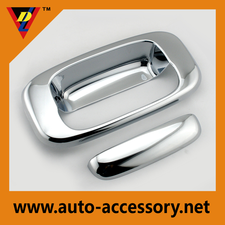 Chrome GMC truck tailgate accessories