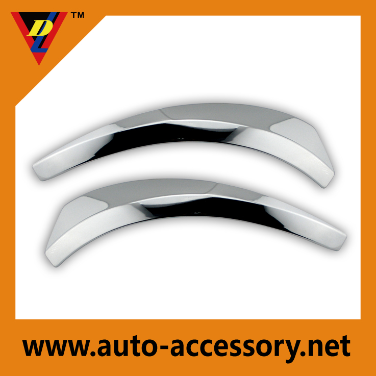 Chrome fender trim for cars