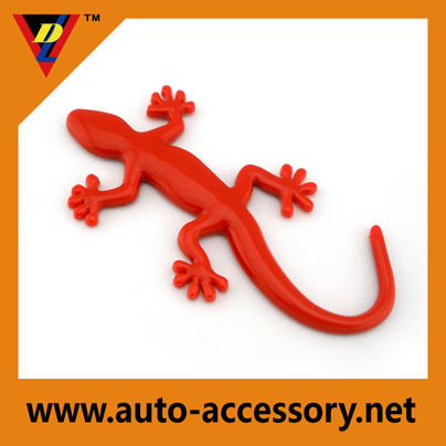 Red colro Gecko plastic chrome decals car logos pictures