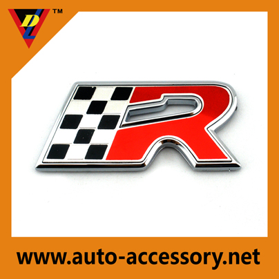 Flag R metal name badges vehicle emblems