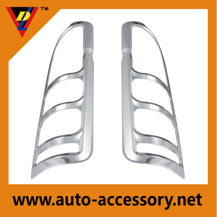 Chrome tail light trim of toyota hiace body kits